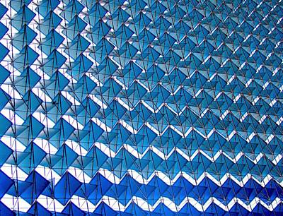 India Photograph - Blue Abstract Structure Of Geometrical by Baxsyl