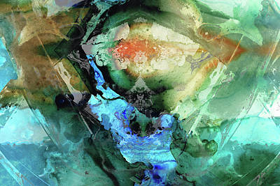Painting - Blue And Green Abstract Art - Hidden Passage - Sharon Cummings by Sharon Cummings