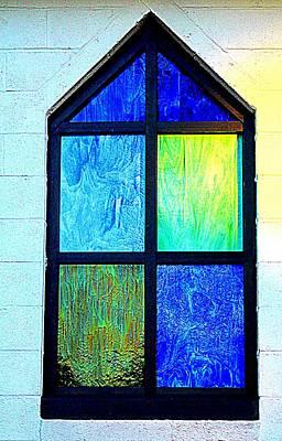 Photograph - Blue And Green Window by Cynthia Guinn