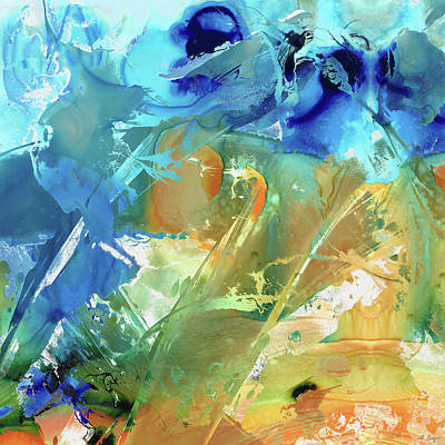 Painting - Blue And Orange Art - Intuition - Sharon Cummings by Sharon Cummings