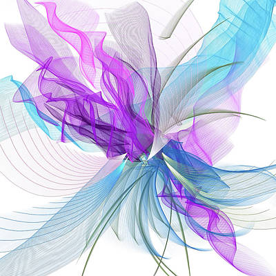 Painting - Blue And Purple  Abstract Art by Lourry Legarde