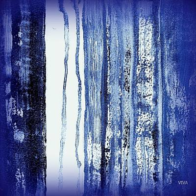 Painting - Blue And White Rainy Day by VIVA Anderson