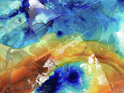 Painting - Blue And Yellow Abstract Art - True Destiny - Sharon Cummings by Sharon Cummings