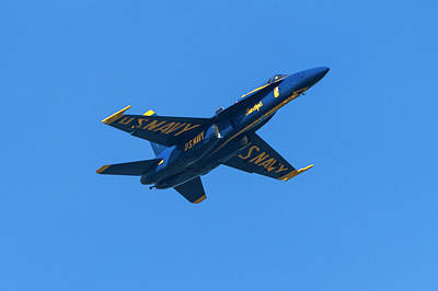 Photograph - Blue Angel Flying High by Bonnie Follett