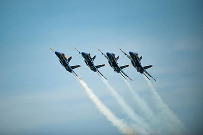 Photograph - Blue Angels Close Together by Mark Duehmig