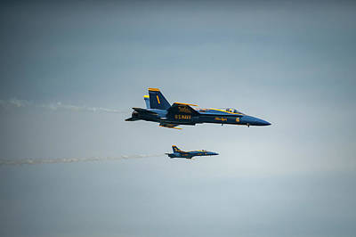 Photograph - Blue Angels Close Up by Mark Duehmig