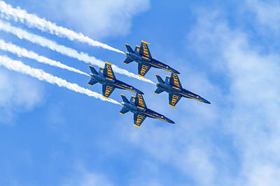 Photograph - Blue Angels Do Not Blink by Bonnie Follett