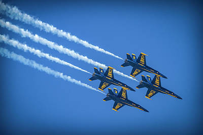 Photograph - Blue Angels Four On The Floor by Bonnie Follett