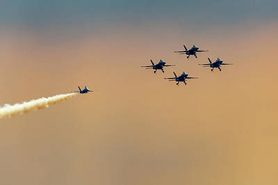 Photograph - Blue Angels Pass Through by Donna Corless