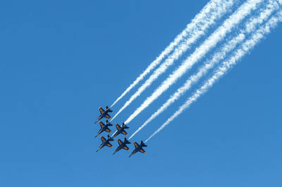 Photograph - Blue Angels Six Down by Bonnie Follett