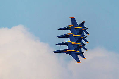 Photograph - Blue Angels Stack Of 4 by Donna Corless