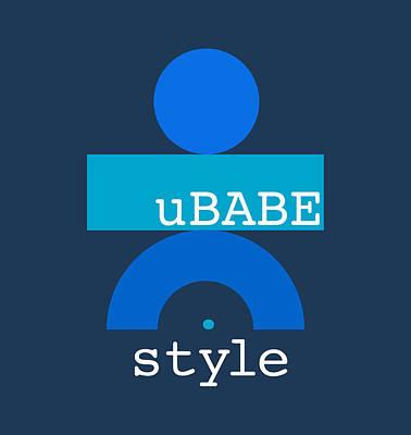 Digital Art - Blue Babe by Ubabe Style