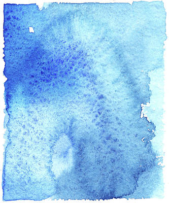 Blue Background Digital Art - Blue Background Textured Watercolor by Taice