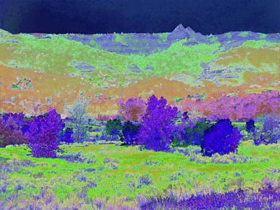 Photograph - Blue Badlands Rhapsody by Cris Fulton