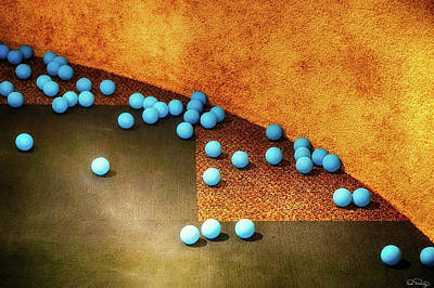 Photograph - Blue Balls by Dee Browning