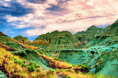 Photograph - Blue Basin At Sunrise by Dee Browning