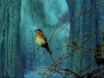 Digital Art - Blue Bird Dreams by Wesley Nesbitt