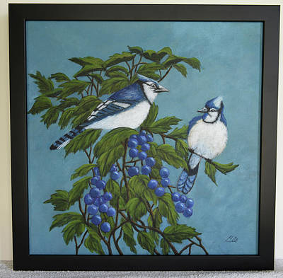 Painting - Blue Birds by Gloria Johnson
