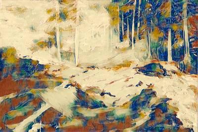 Digital Art - Blue Blue by Gail Daley