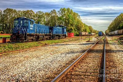 Photograph - Blue Boys Madison Georgia Trains Rail Road Art by Reid Callaway
