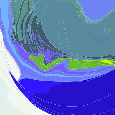 Digital Art - Blue Cats Eye by Gina Harrison