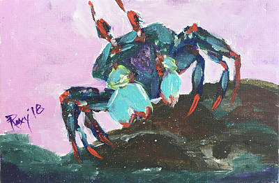 Image Painting - Blue Crab by Roxy Rich