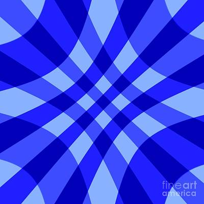Digital Art - Blue Crosshatch By Delynn Addams For Home Decor by Delynn Addams