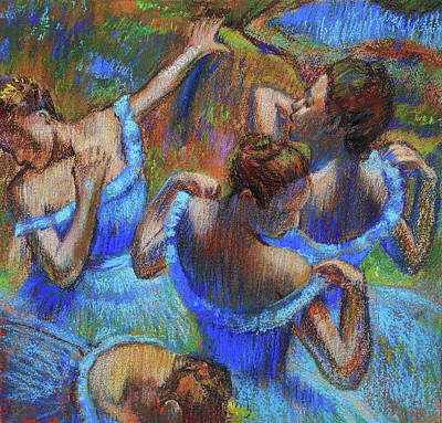 Painting - Blue Dancers By Degas Study  by Irina Sztukowski