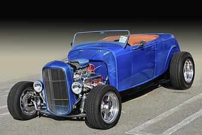 Photograph - Blue Deuce Roadster by Bill Dutting