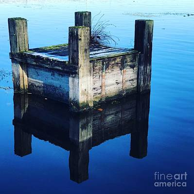Photograph - Blue Dock by Suzanne Lorenz