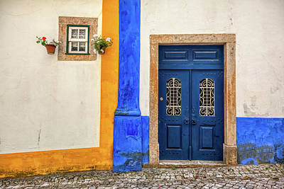 Photograph - Blue Door Of Medieval Portugal by David Letts