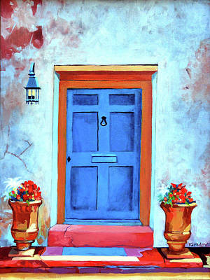 Royalty-Free and Rights-Managed Images - Blue Door St. Augustine by Catherine Twomey