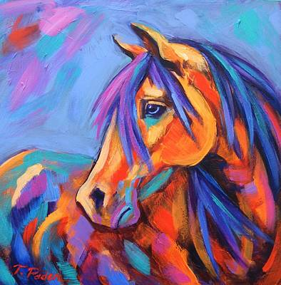 Wall Art - Painting - Blue Eyed Beauty by Theresa Paden