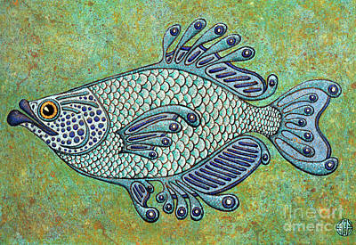 Painting - Blue Fish by Amy E Fraser