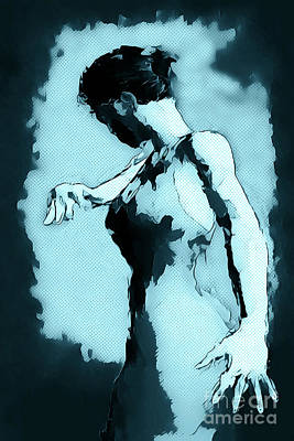 Comics Royalty-Free and Rights-Managed Images - Blue Flamenco by John Edwards