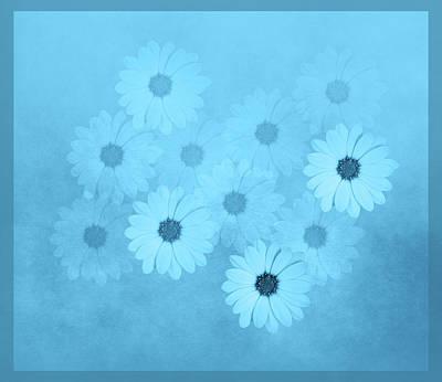 Mixed Media - Blue Flower Harmony  by Johanna Hurmerinta