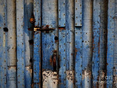 Photograph - Blue Garage Door by Lainie Wrightson