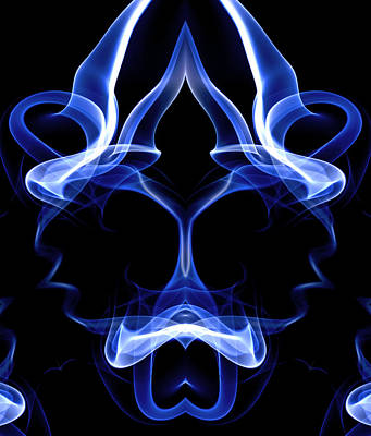 Digital Art - Blue Ghostly Headgear by David Crausby