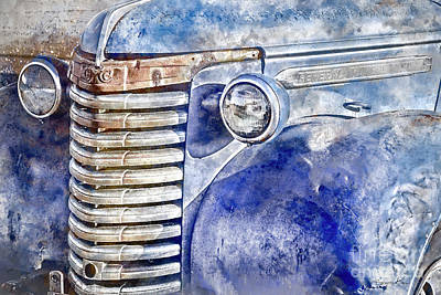 Photograph - Blue Gmc Truck by Brad Allen Fine Art
