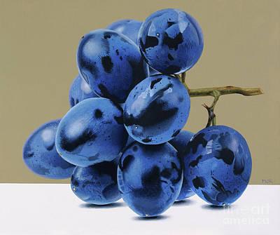 Painting - Blue Grapes by Dietrich Moravec