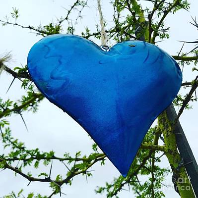 Photograph - Blue Heart by Melanie De Grooth