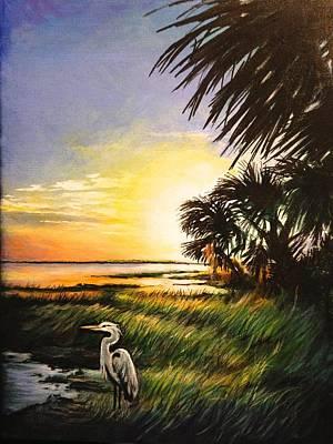 Pasta Al Dente - Blue Heron Sunset by Judi Cain