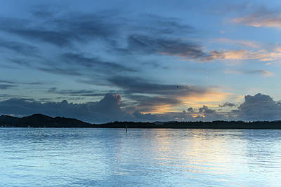 Photograph - Blue Hour And Birds Over The Bay by Merrillie Redden