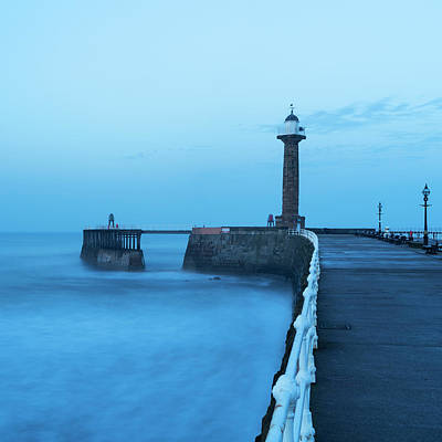 Photograph - Blue Hour At Whitby by David Taylor