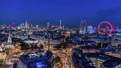 Photograph - Blue Hour In London by Stewart Marsden