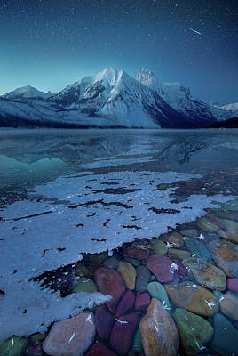 Photograph - Blue Hour / Lake Mcdonald, Glacier National Park  by Nicholas Parker