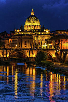 Photograph - Blue Hour On The Tiber River by Chris Lord