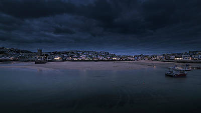 Photograph - Blue Hour - St Ives Cornwall by Eddy Kinol