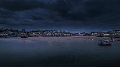 Blue Hour - St Ives Cornwall Art Print