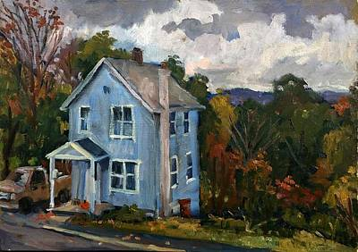 Painting - Blue House October by Thor Wickstrom